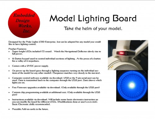 Model Lighting Board Manual Cover Art