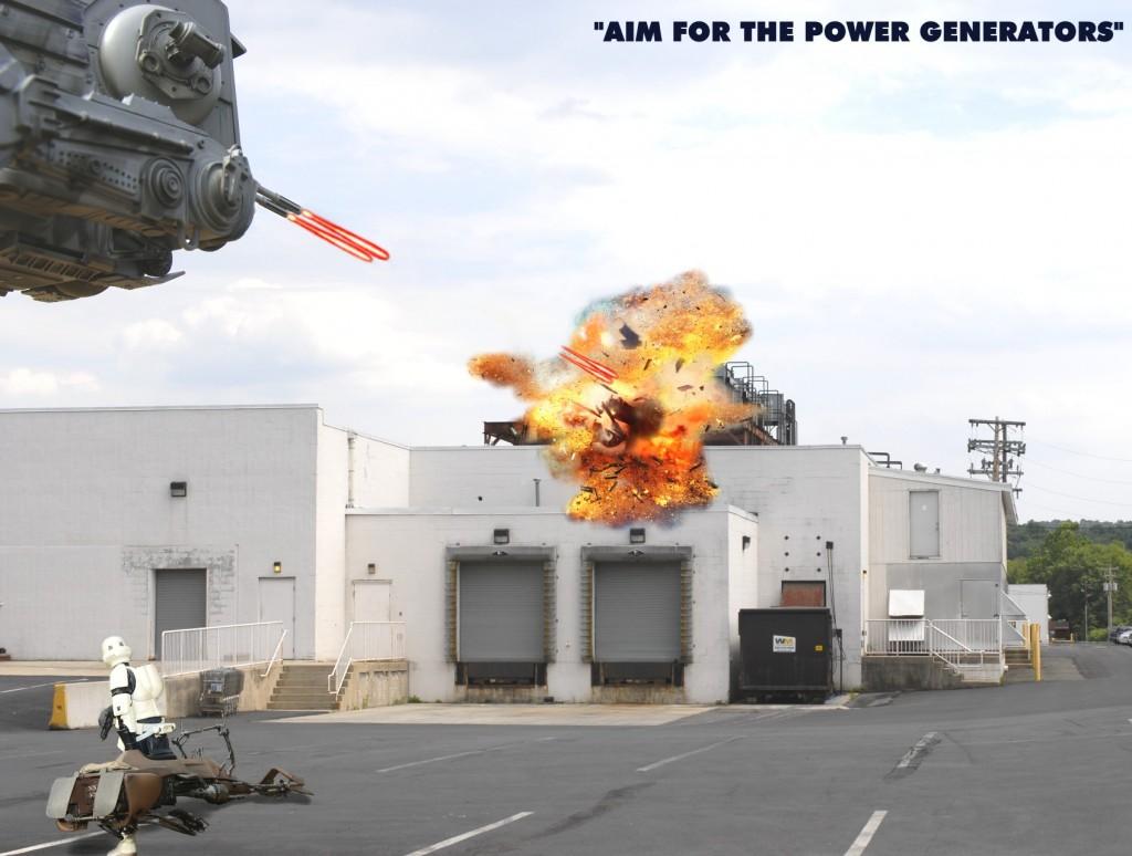 Aim for the power generators C